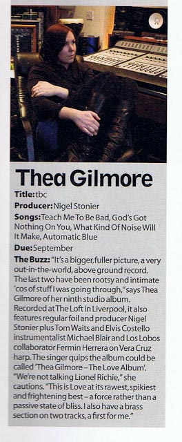 Thea Gilmore article in MOJO August 2010